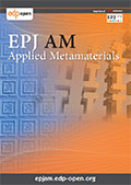 EPJ Applied Metamaterials Cover page